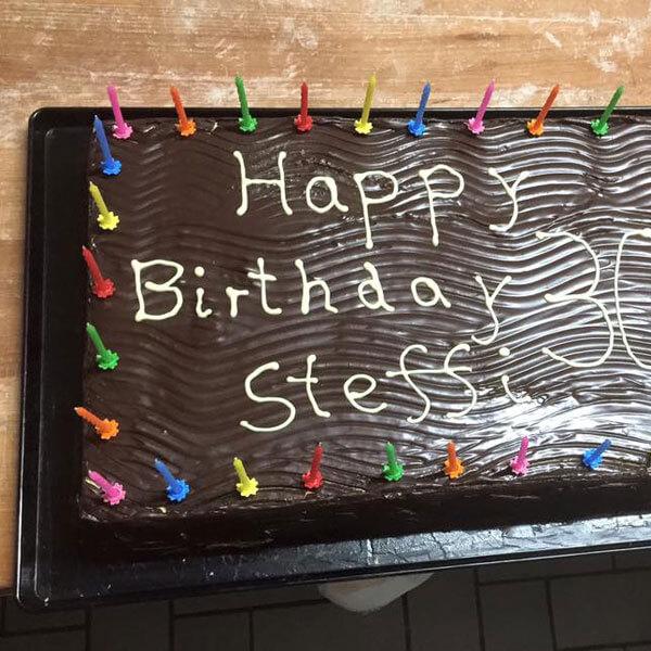 Schokoladenkuchen zum Geburtstag