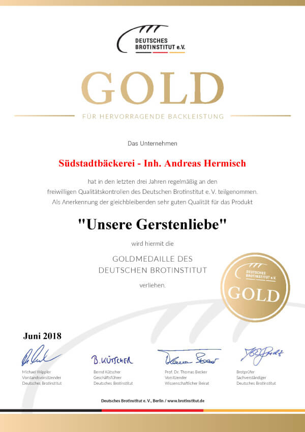 Urkunde Brotprüfung Paderborn